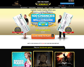 Captain Cook Casino - $500 No Deposit Bonus