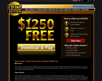 Casino Action Casino - $1250 No Deposit Bonus